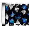 Swarovski Crystal 5950 Fine Rock Tube Bead W/ Metal Ending - 15mm