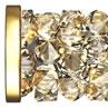 Swarovski Crystal 5950 Fine Rock Tube Bead W/ Metal Ending -30 mm