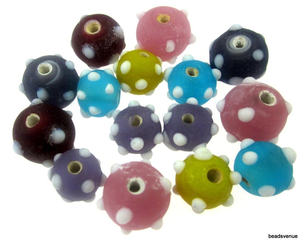 Polka Dot Glass Beads Mix