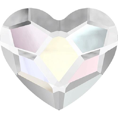 Swarovski Crystal 2808 Heart Flat Back No Hot Fix - 10 mm