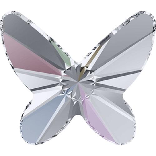 Swarovski Crystal 2854 Butterfly Flat Back No Hot Fix - 8 mm