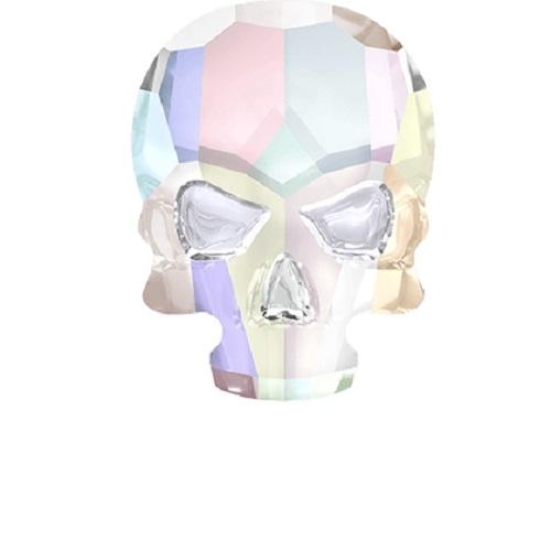 Swarovski Crystal 2856 Skull Flat Back No Hot Fix - 14 x 10.5mm