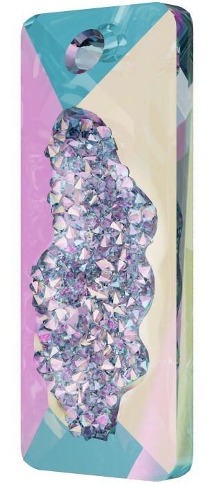 Swarovski ® Growing Crystal 6925 Rectangle Pendant 36mm