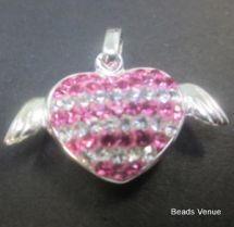 Sterling Silver Pendants W/ Swarovski Crystals & CZ Stones