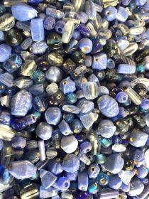 Mix Glass Beads - Blue