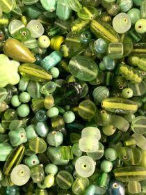 Mix Glass Beads -Green