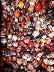 Mix glass beads- Waxy/Candy Mix  Red