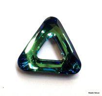 Cosmic Triangles (4737)-14 mm -Bermuda blue