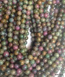 Ruby Apatite Beads Round - 8mm - 40 Cms. Strand