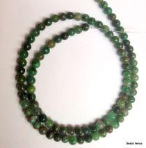 Verdite Beads Round -4mm-40 cms. Strand