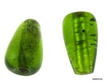 Foil Beads Tear Drop-20mm-Peridot