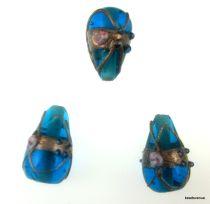 Wedding Cake  Drop Beads 20 x 14mm- Turquoise Blue