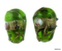 Wedding Cake  Drop Beads 20 x 14mm- Peridot