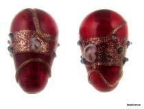 Wedding Cake  Drop Beads 20 x 14mm- Red Transparent