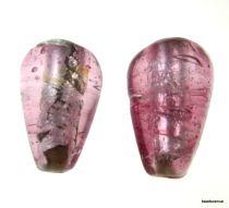 Foil Beads Tear Drop-20mm-Pink