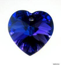 Swarovski Crystal Heart(6228) Pendant- 18mm- Crystal Heliotrope