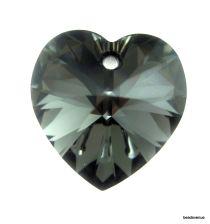 Swarovski Crystal Heart(6228) Pendant- 14mm- Crystal Silvernight