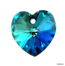 Swarovski Crystal Heart(6228) Pendant- 18mm- Crystal Bermuda Blue