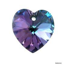 Swarovski Crystal Heart(6228) Pendant- 18mm- Crystal Vitrail Light