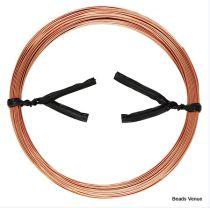 Rose Gold Filled Round Wire (14k) Half Hard 22 Gauge