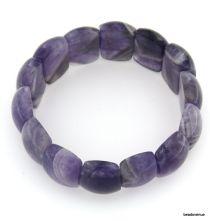 Sage Amethyst Stretch Bracelet