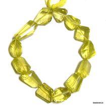Lemon Quartz Faceted Tumbles -12-22 x 8-14 mm- 20 cms. Strand