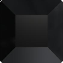 Swarovski Crystal Flatback No Hotfix  2400 Square Flat Back (10.00 mm) - Jet (F)- 72 Pcs