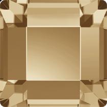 Swarovski Crystal Flatback No Hotfix 2400 Square Flat Back(6.00 mm) - Crystal Golden Shadow (F)- 144 Pcs