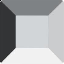 Swarovski Crystal Flatback No Hotfix  2400 Square Flat Back (6.00 mm) -  Crystal Light Chrome(F)- 144Pcs