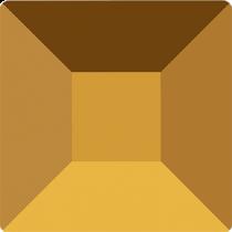 Swarovski Crystal Flatback No Hotfix  2400 Square Flat Back (6.00 mm) - Crystal Dorado  (F)- 144Pcs