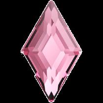 Swarovski Crystal Flatback No Hotfix 2773 Diamond Shape (9.90x5.90 mm)-Light Rose (F) - 144 Pcs