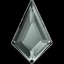 Swarovski Crystal Flatback No Hotfix 2771  Kite Flat Back (6.40x4.02 mm)-Black Diamond (F)- 288 Pcs