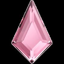 Swarovski Crystal Flatback No Hotfix 2771  Kite Flat Back (12.90x8.30 mm)-Light Rose (F)- 288 Pcs