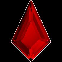 Swarovski Crystal Flatback No Hotfix 2771   Kite Flat Back (6.40x4.02 mm)-Light Siam (F)- 288 Pcs