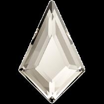 Swarovski Crystal Flatback No Hotfix 2771   Kite Flat Back (6.40x4.02 mm)-Crystal Silver Shade (F)- 288 Pcs
