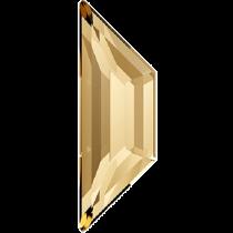 Swarovski Crystal Flatback No Hotfix 2772 Trapeze Flat Back (8.60x2.80mm)- Crystal Golden Shadowl (F)- 288 Pcs