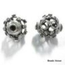 Sterling Silver Filigree Bead 12mm