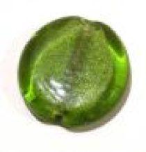 Foil Beads Disc 25mm-Peridot Green