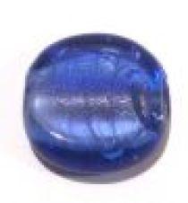 Foil Beads Disc 25mm-Sapphire Blue