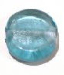 Foil Beads Disc 25mm-Aqua Blue