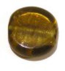 Foil Beads Disc 25mm-Amber