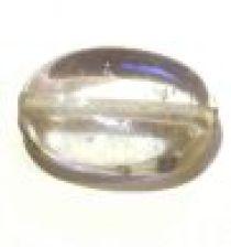 Glass Twisted Flat Ovals 19x14x7mm-Clear (trans)