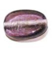 Glass Twisted Flat Ovals 19x14x7mm-Purple(trans)