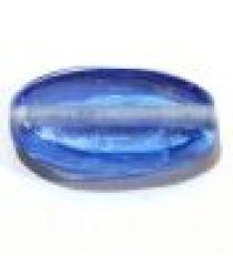 Glass Flat Ovals 19x10x6mm-Sapphire(trans)