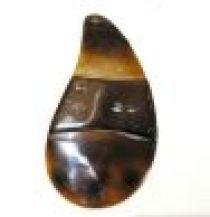 Pendant Blacktab Shell long Pear with skin-95mm