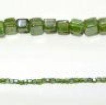Glass Cubes Strands 5mm- Peridot