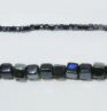 Glass Cubes Strands 6mm- Black