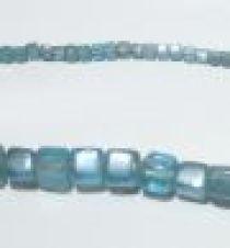 Glass Cubes Strands 6mm- Aqua(trans))