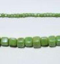 Glass Cubes Strands 6mm- Green(opaque)