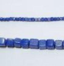 Glass Cubes Strands 6mm-Royal Blue (opaque)